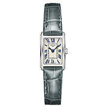 Buy Longines L52584713 Women's Dolce Vita Leather Strap Watch, Black/Off White Online at johnlewis.com