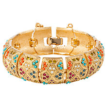 Buy Susan Caplan Vintage D'Orlan 22ct Gold Plated Swarovski Crystal Statement Bracelet, Gold/Multi Online at johnlewis.com