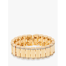 Buy Susan Caplan Vintage Vintage Swarovski 22ct Gold Plated Crystal Bracelet, Gold Online at johnlewis.com