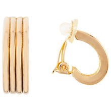 Buy Susan Caplan Vintage Nina Ricci 22ct Gold Plated Hoop Clip-On Earrings, Gold Online at johnlewis.com