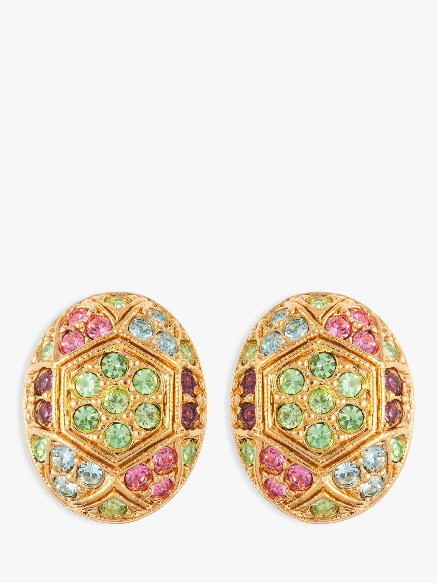 24245ef46 Buy Susan Caplan Vintage D'Orlan 22ct Gold Plated Swarovski Crystal Oval  Clip-On ...