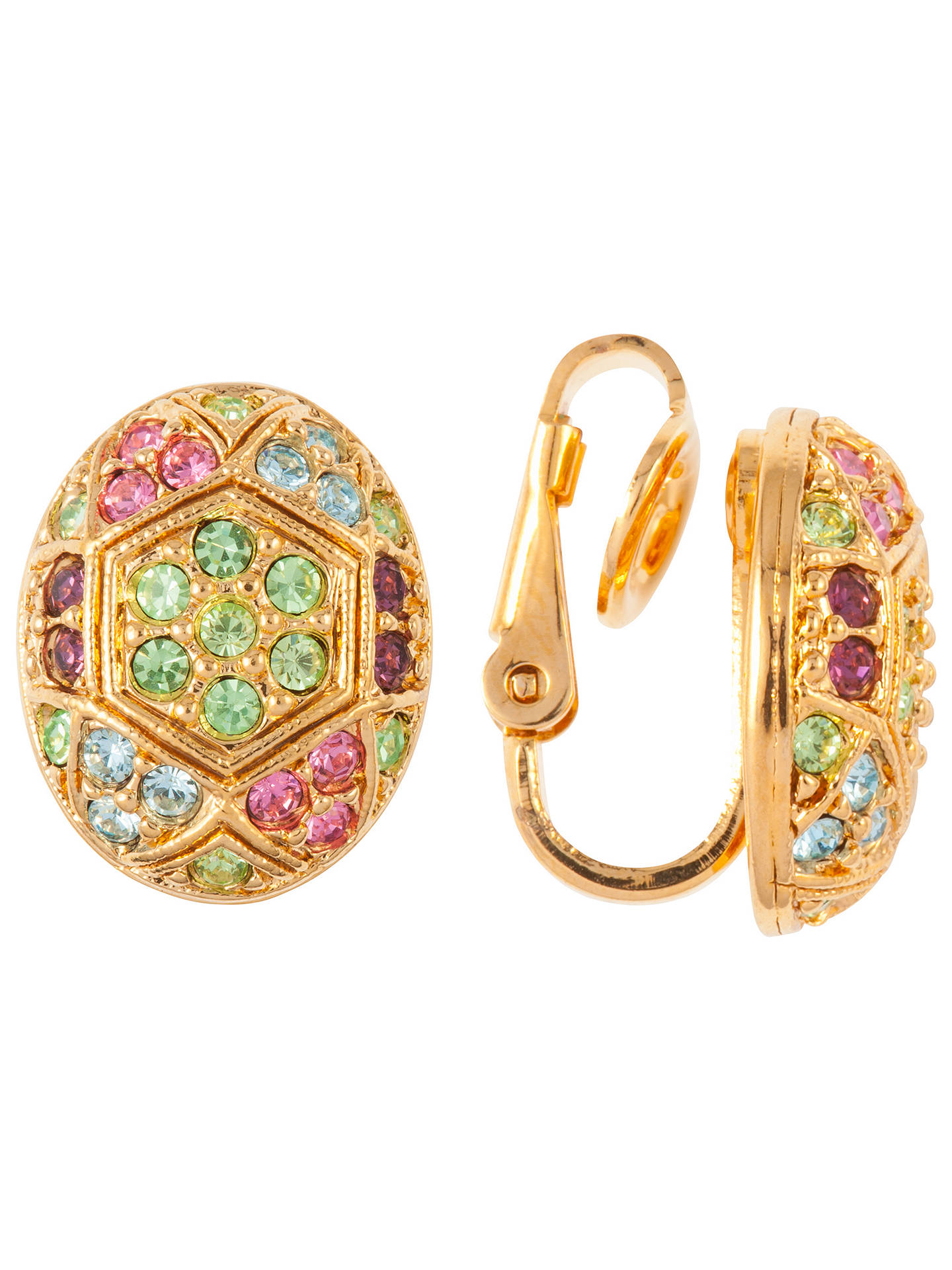 77f342d41 ... Buy Susan Caplan Vintage D'Orlan 22ct Gold Plated Swarovski Crystal  Oval Clip-On
