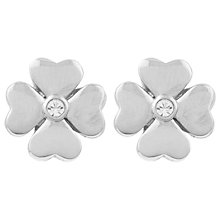 Buy Susan Caplan Vintage Nina Ricci Silver Plated Flower Clip-On Earrings, Silver Online at johnlewis.com