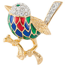 Buy Susan Caplan Vintage Attwood & Sawyer 22ct Gold Plated Swarovski Crystal Bird Brooch, Gold/Multi Online at johnlewis.com