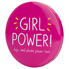 Buy Happy Jackson Girl Power Portable Power Bank & Mirror Online at johnlewis.com