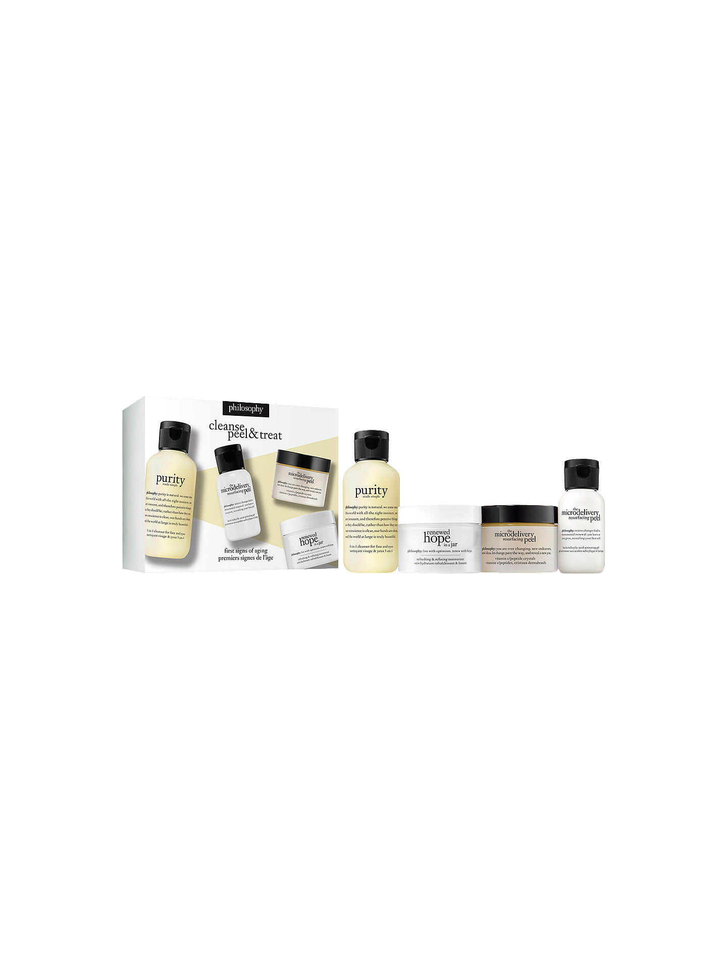 BuyPhilosophy Hope Cleanse, Peel And Treat Skincare Gift Set Online at johnlewis.com