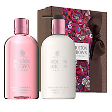 Buy Molton Brown Delicious Rhubarb & Rose Bath & Body Gift Set Online at johnlewis.com