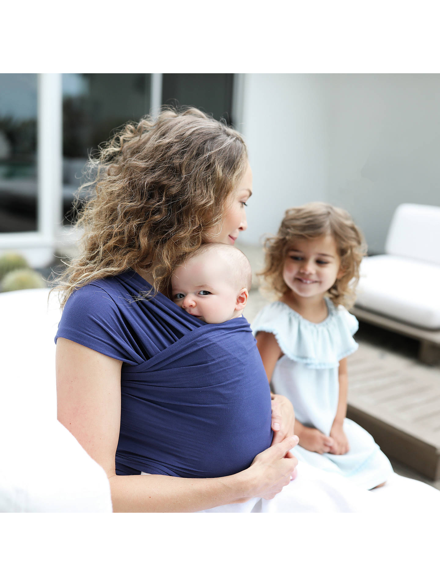 ff7e7f9ee6f89 ... Buy Ergobaby Aura Baby Carrier Wrap, Indigo Online at johnlewis.com