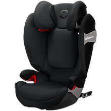 Buy Cybex Solution S-Fix Group 2/3 Car Seat, Lavastone Black Online at johnlewis.com