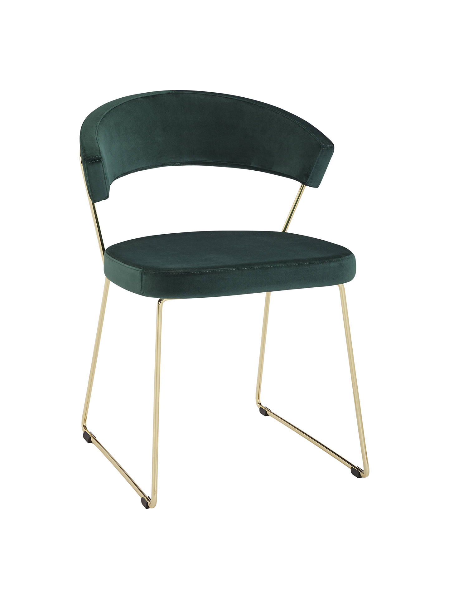 Buyconnubia by calligaris new york velvet dining chair green online at johnlewis com