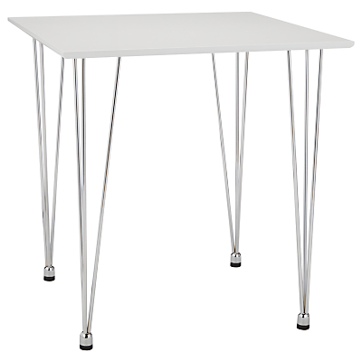 House by John Lewis Jasper 2 Seater Square Dining Table, White