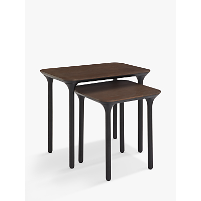 John Lewis & Partners Yoko Nest of 2 Tables, Dark Oak