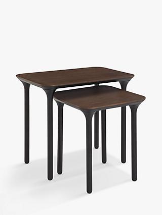John Lewis Partners Yoko Nest Of 2 Tables Dark Oak