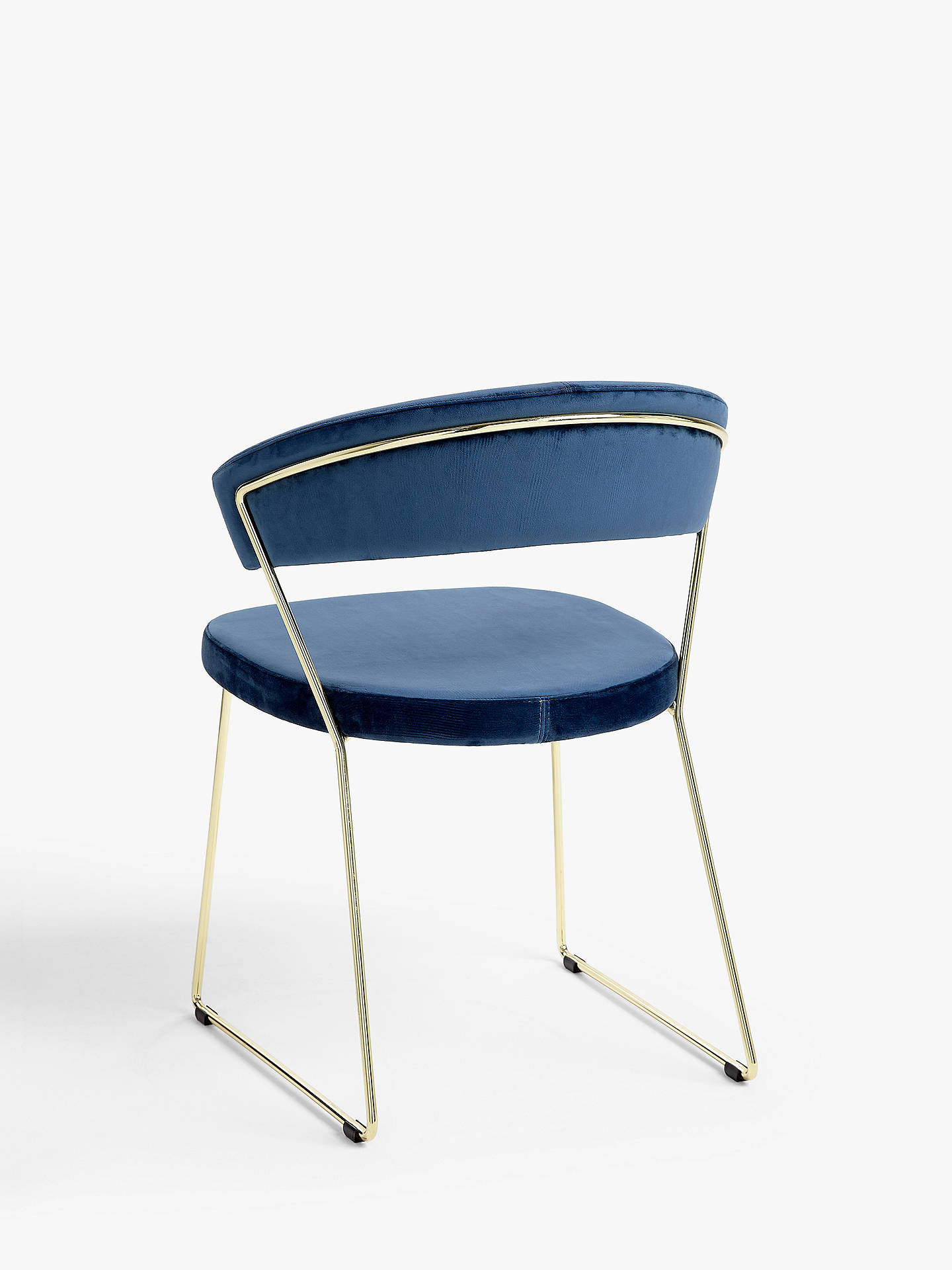 Buy Connubia by Calligaris New York Velvet Dining Chair, Blue Online at johnlewis.com