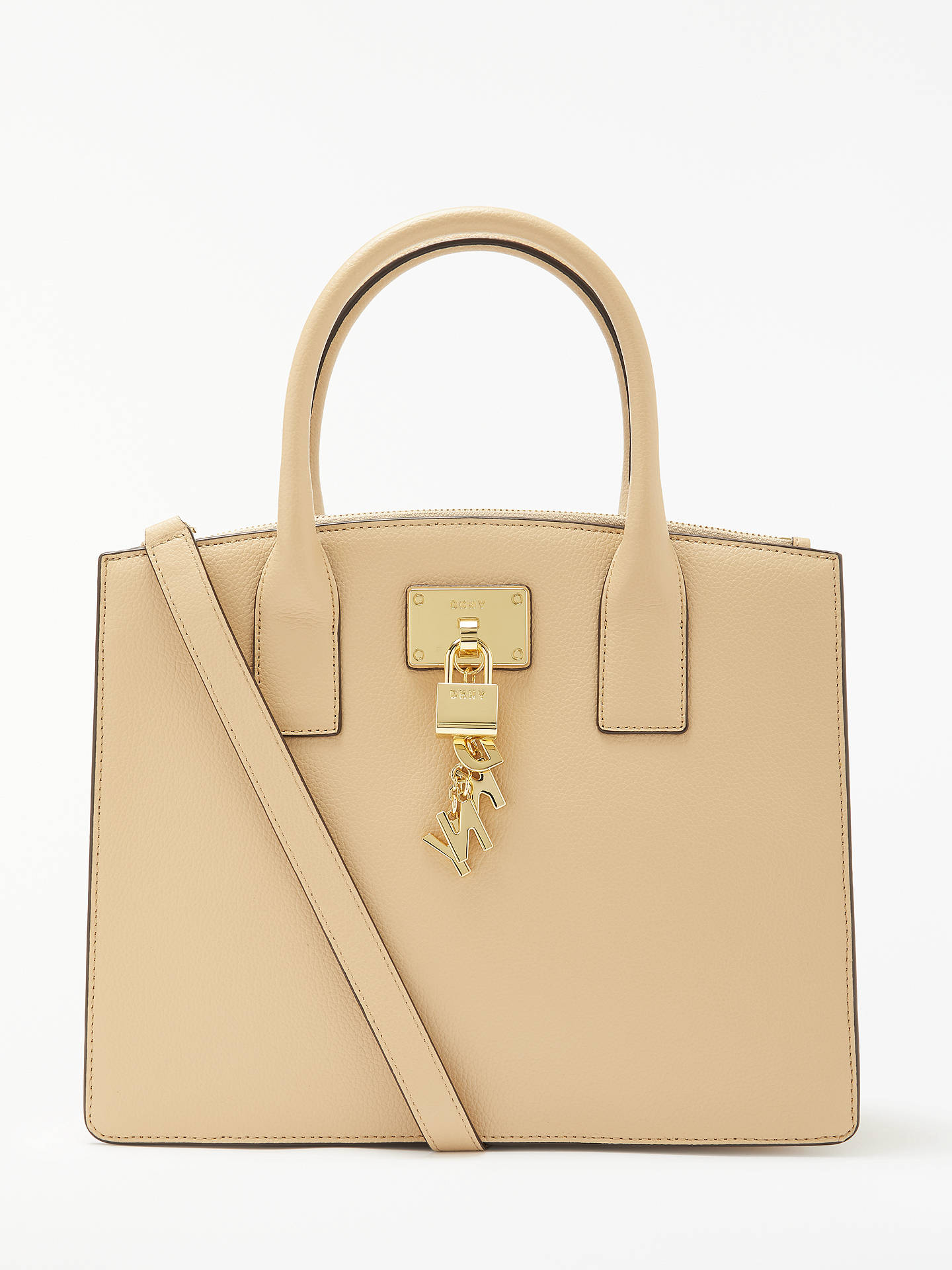 ae18c5d7e8 DKNY Elissa Charm Detail Leather Tote Bag at John Lewis   Partners
