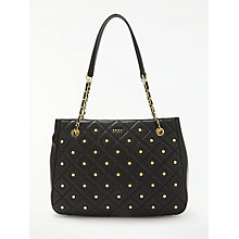 Buy DKNY Barbara Quilted Leather Tote Bag, Black Online at johnlewis.com