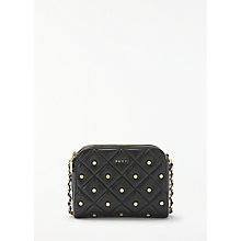 Buy DKNY Barbara Quilted Leather Cross Body Bag, Black Online at johnlewis.com