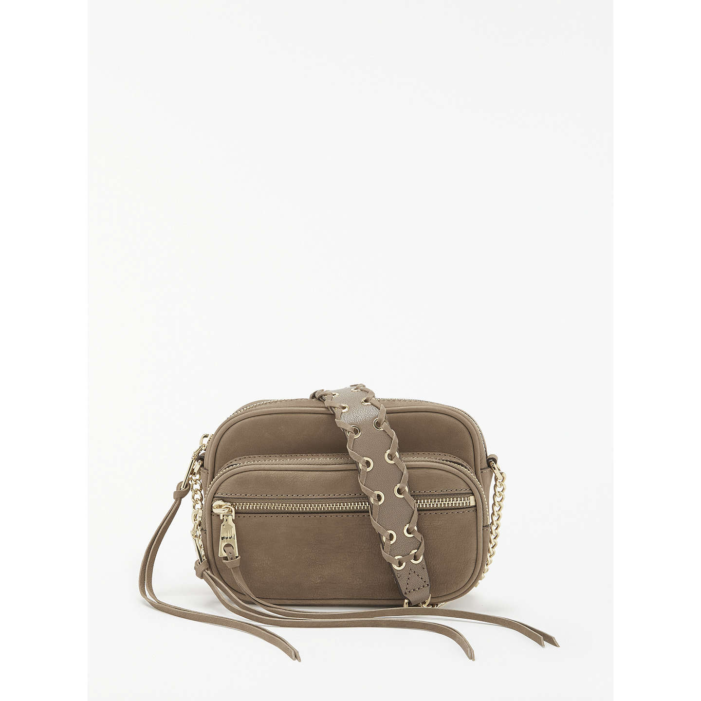 Buydkny Shanna Leather Camera Bag, Taupe Online At Johnlewiscom