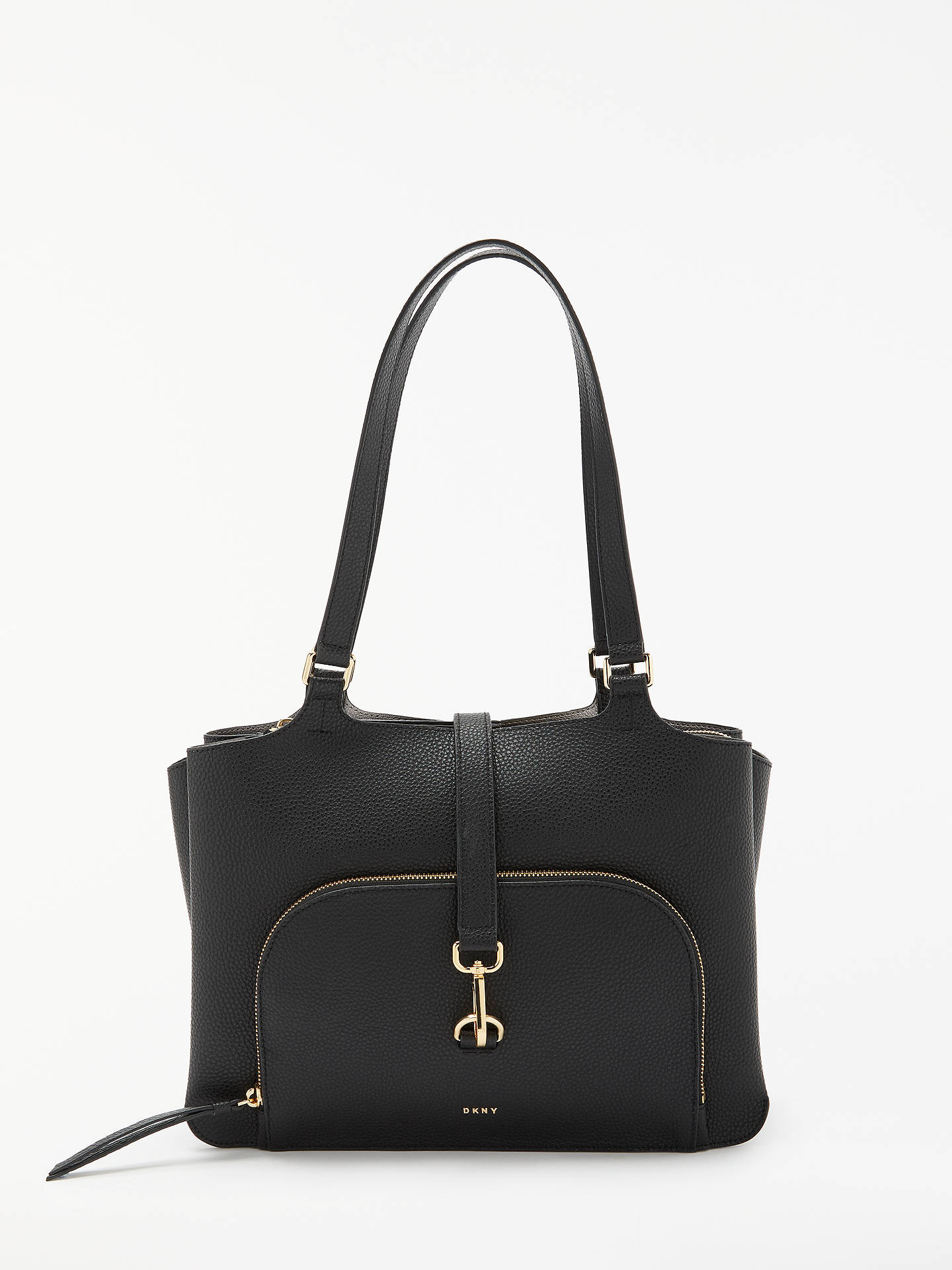 90874ac15bb Buy DKNY Paris Large Pebbled Leather Tote Bag, Black Online at  johnlewis.com ...