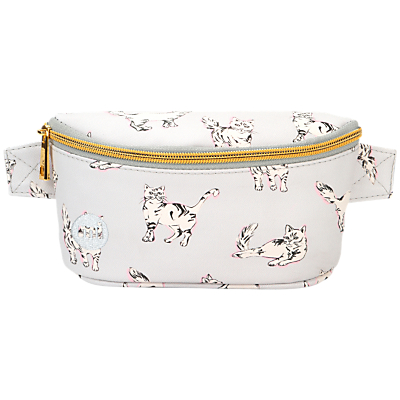 Mi-Pac Cats Bum Bag, Light Grey