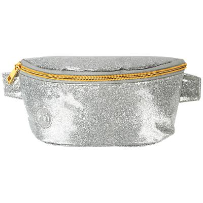 Mi-Pac Glitter Bum Bag, Silver