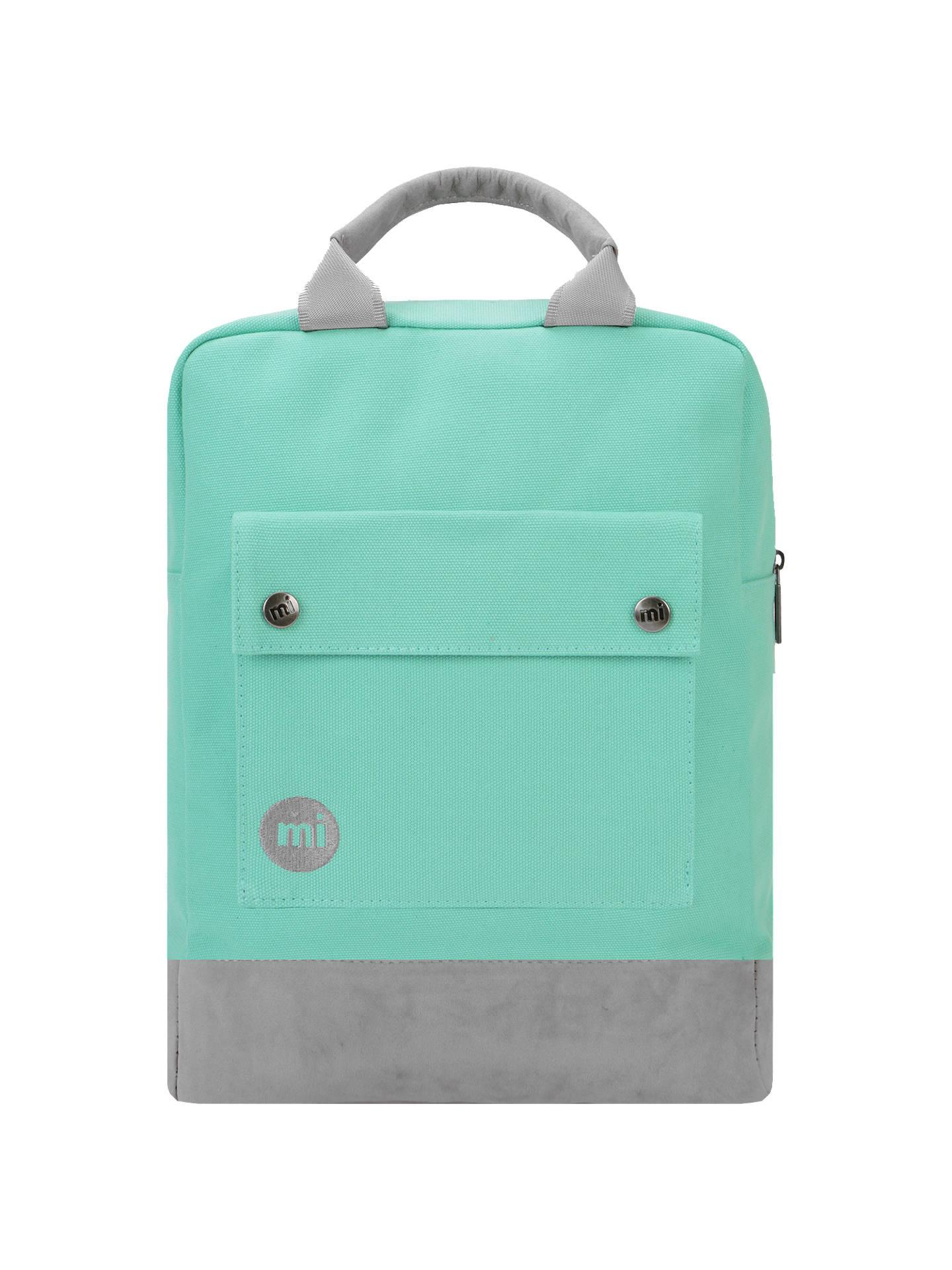 76c890cadde Buy Mi-Pac Canvas Tote Backpack, Mint Online at johnlewis.com ...