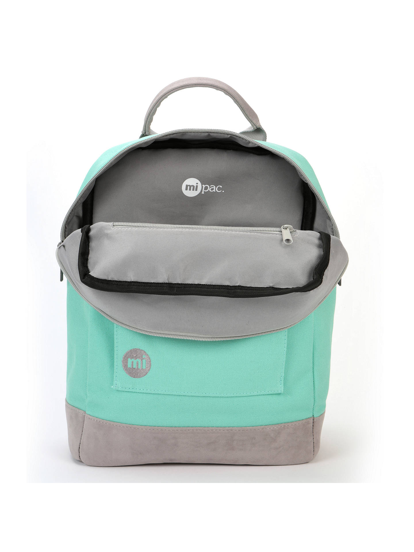 ddc0bbabc99 ... Buy Mi-Pac Canvas Tote Backpack, Mint Online at johnlewis.com ...
