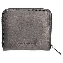 Buy Mint Velvet Pewter Leather Zip Around Small Purse, Metallic Online at johnlewis.com