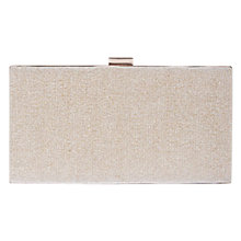 Buy Coast Bethy Glitter Box Clutch Bag, Gold Online at johnlewis.com