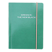 Buy Caroline Gardner Small Chunky Notebook, Green Online at johnlewis.com