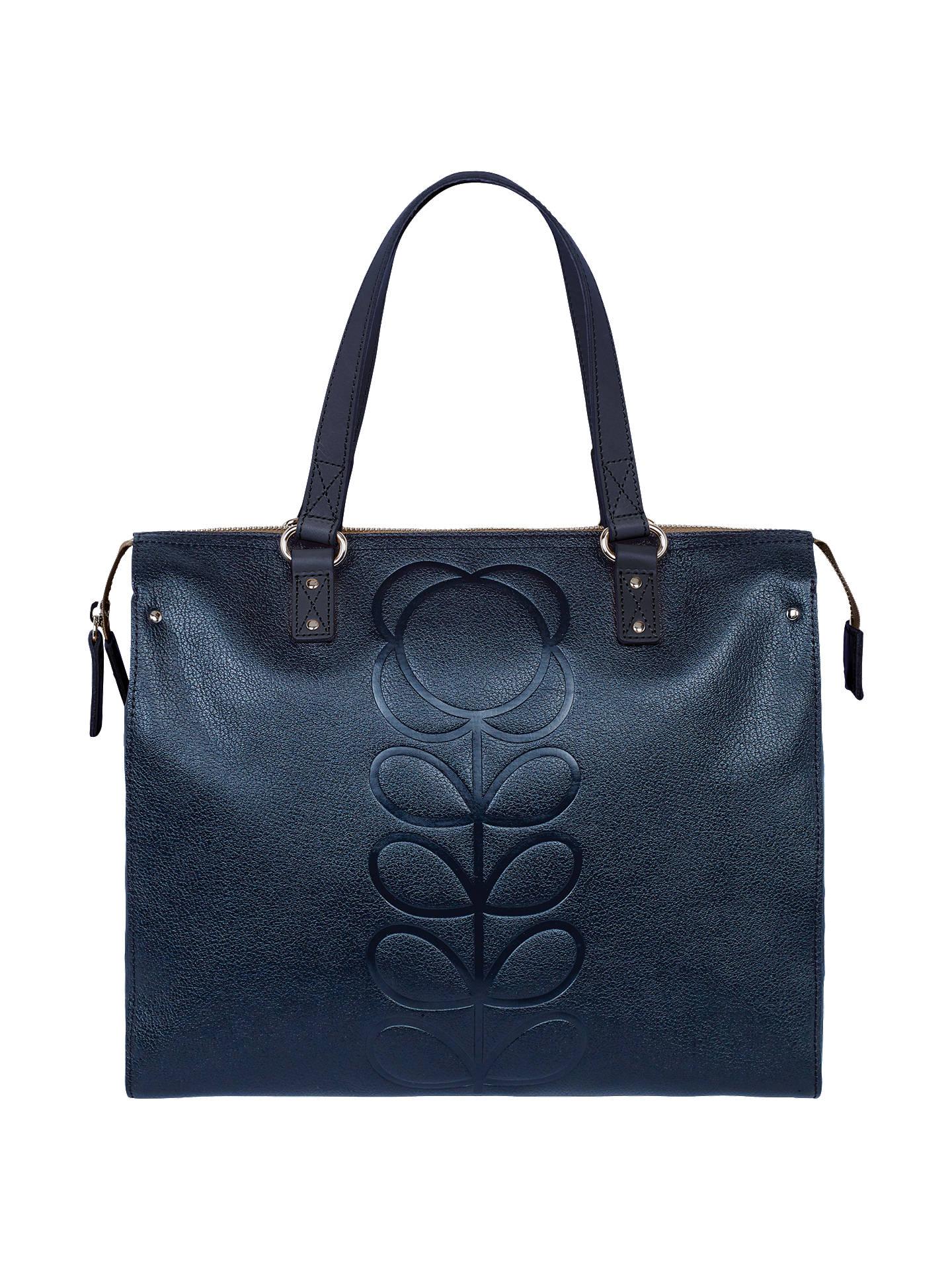 BuyOrla Kiely Embossed Flower Leather Tote Bag 4d98ba2468b27