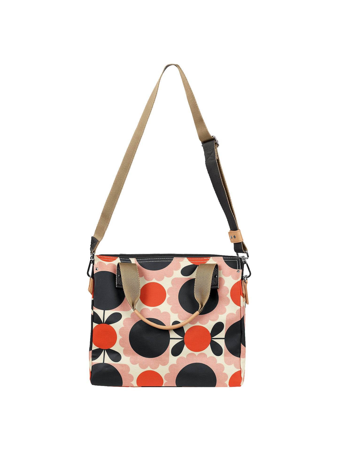 Orla Kiely Scallop Flower Spot Zip Messenger Blush pink