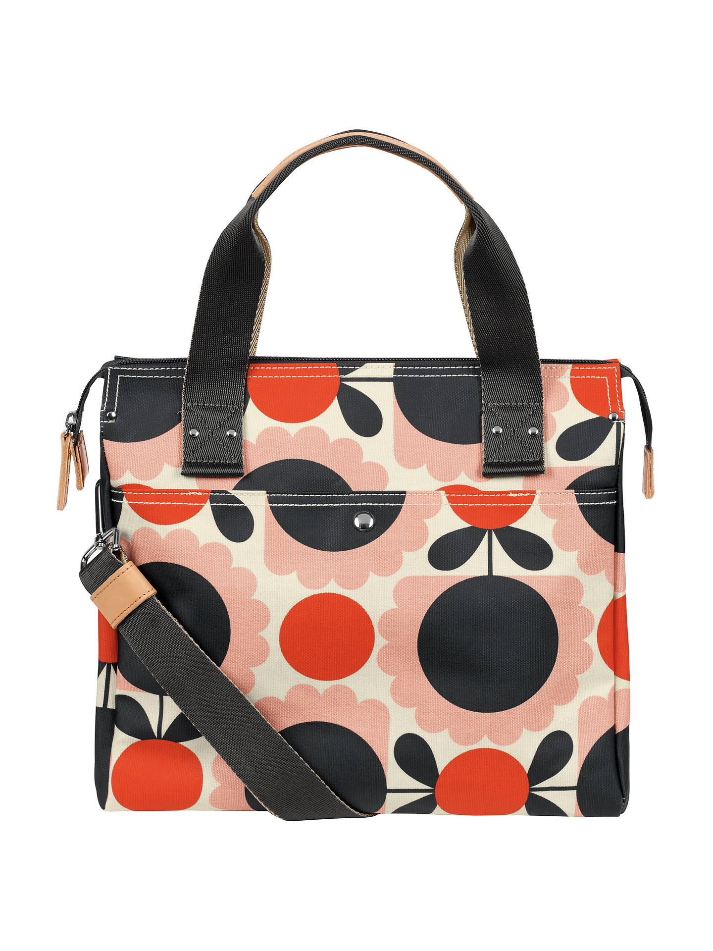 d01a8f3928e BuyOrla Kiely Scallop Flowers Zip Messenger Bag, Pink Multi Online at  johnlewis.com ...