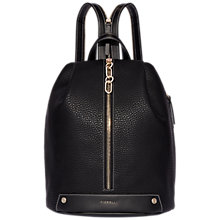 Buy Fiorelli Bolt Zipped Backpack, Black Online at johnlewis.com