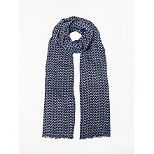 Buy Boden Glasses Print Scarf, Navy/White Online at johnlewis.com