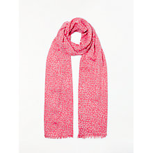 Buy Boden Daisy Print Scarf, Sunset Coral Online at johnlewis.com