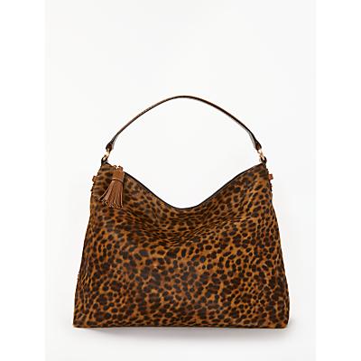 Boden Renee Leopard Pattern Shoulder Bag, Tan