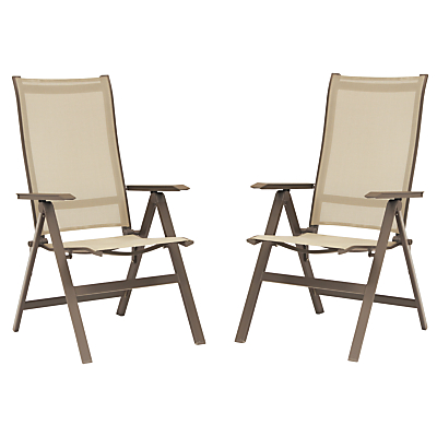 KETTLER Milano Multi Recliner Adjustable Outdoor Chairs, Taupe, Set of 2