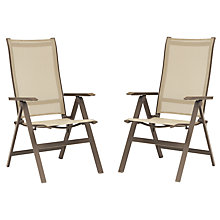 Buy KETTLER Milano Multi Recliner Adjustable Outdoor Chairs, Taupe, Set of 2 Online at johnlewis.com