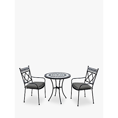 LG Outdoor Casablanca 2 Seater Outdoor Bistro Table and Chairs Set, Charcoal