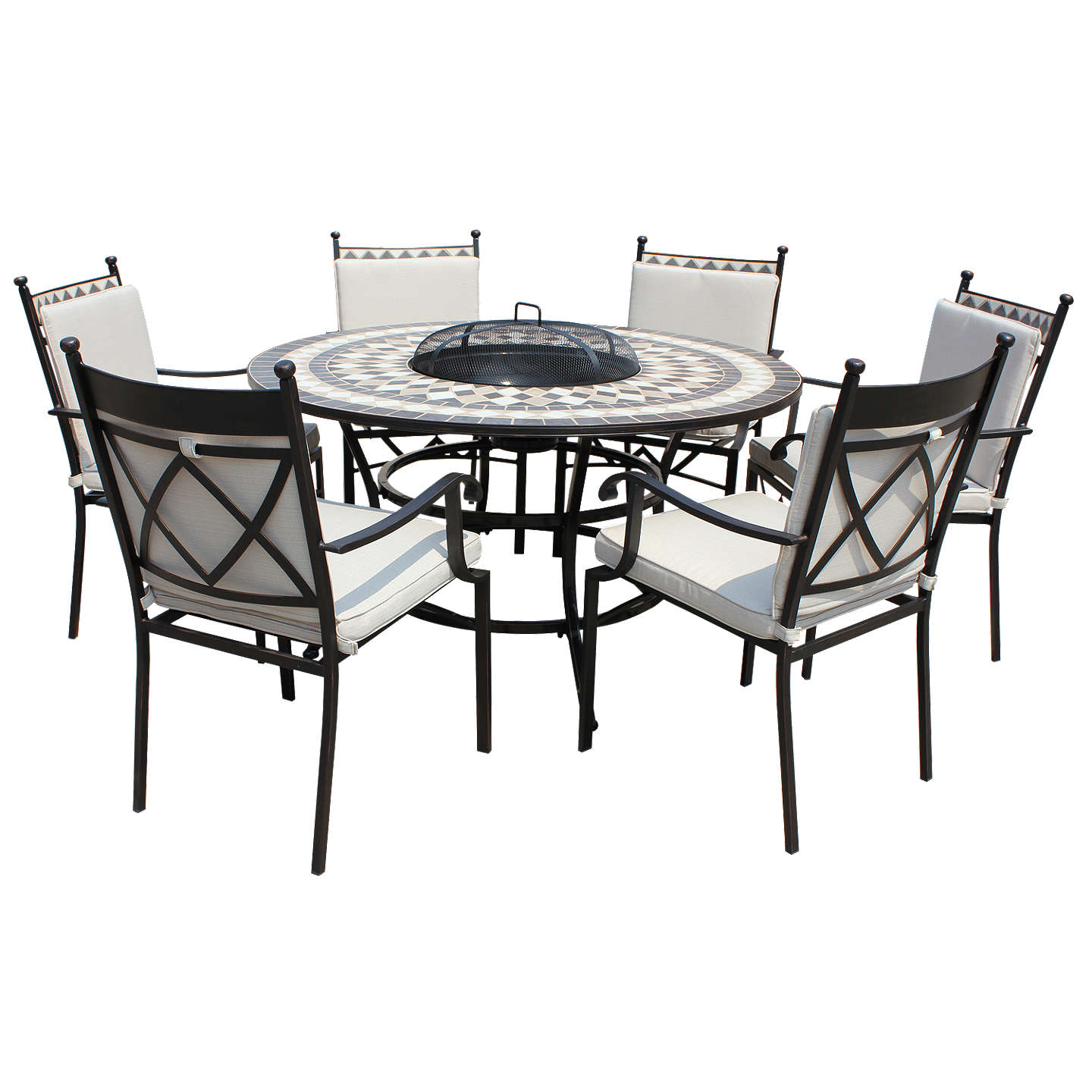 6 Seater Round Dining Table: LG Outdoor Casablanca 6 Seater Garden Round Table Dining