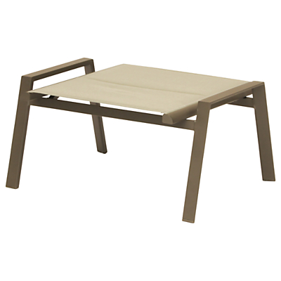 KETTLER Milano Outdoor Lounging Footstool, Taupe/Hessian