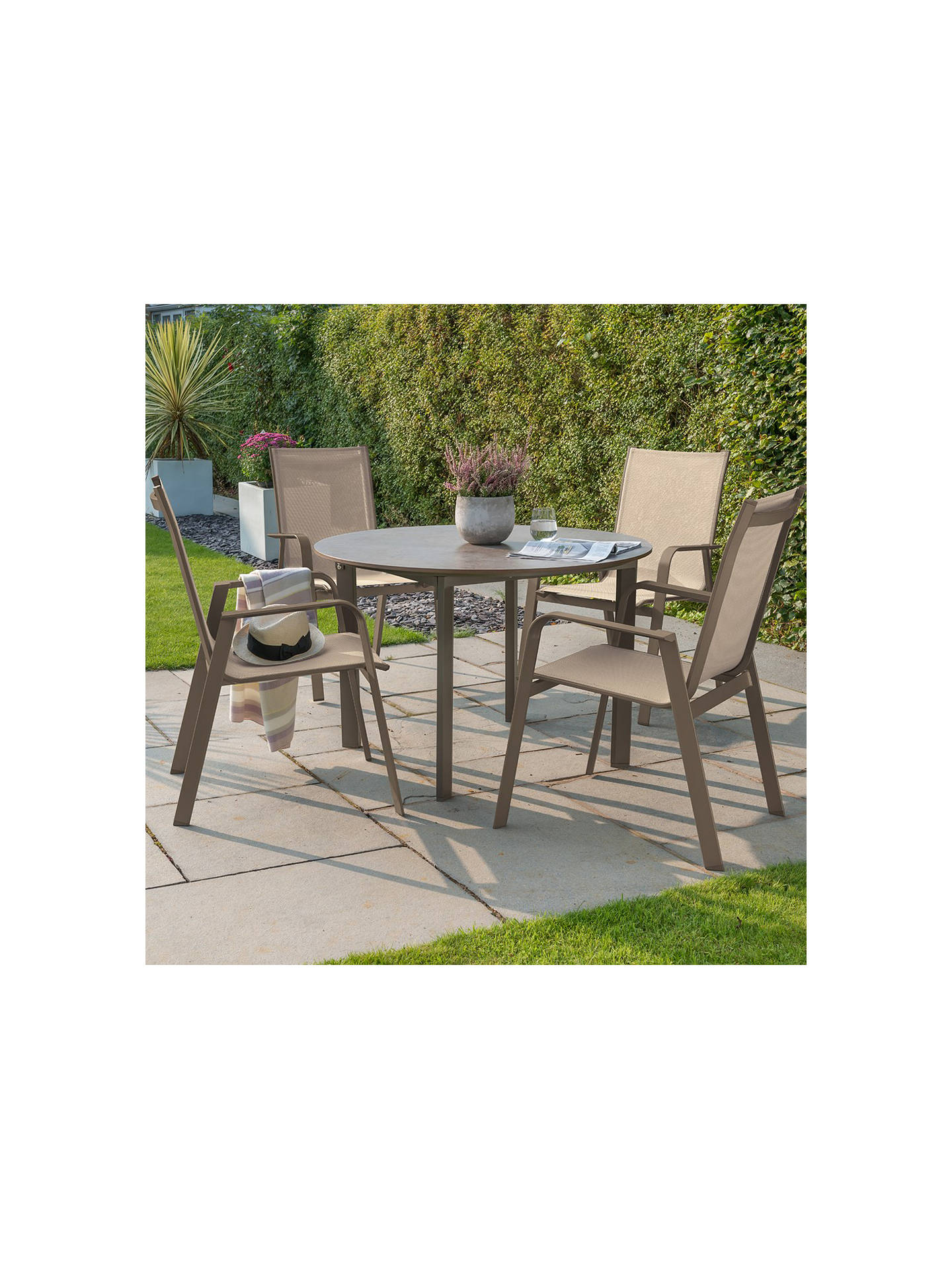 Kettler Milano 4 Seater Garden Table And Chairs Set Taupe