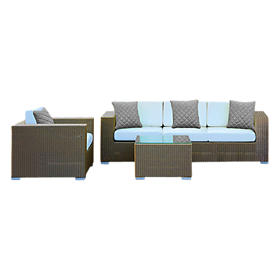 Westminster Cuba 4 Seater Outdoor Lounger Set, Platinum