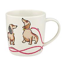 Buy Cath Kidston Mono Dog Print Audrey Mug, Multi, 350ml Online at johnlewis.com