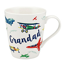 Buy Cath Kidston 'Grandad' Planes Mug, Multi, 400ml Online at johnlewis.com