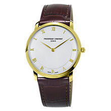 Buy Frédérique Constant FC-200RS5S35 Men's Automatic Leather Strap Watch, Brown/White Online at johnlewis.com