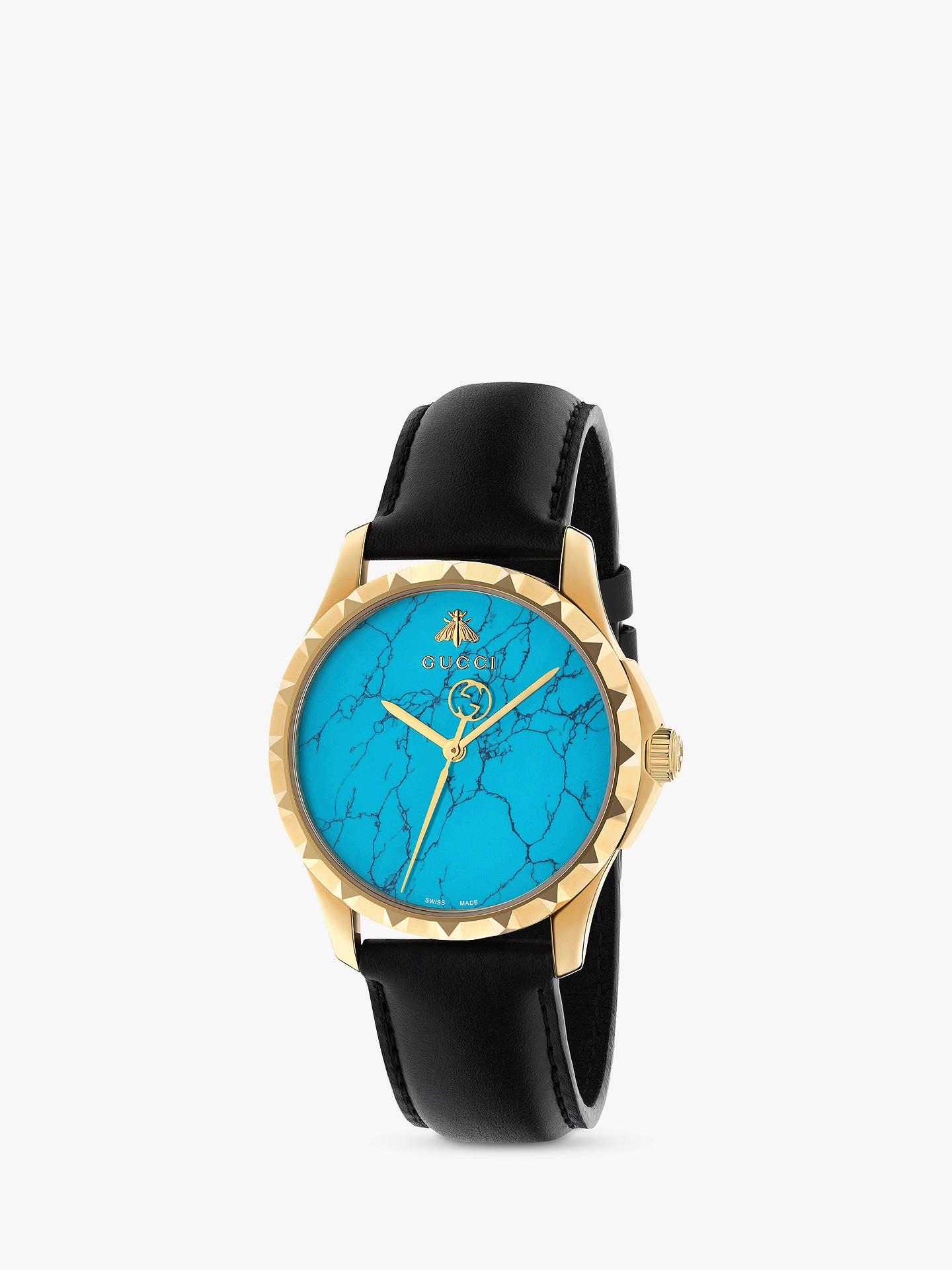 922346ffef5 Gucci YA126462 Women s Le Marche des Merveilles Leather Strap Watch ...