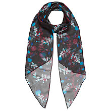 Buy Brora Liberty Silk Scarf, Black Floral Online at johnlewis.com