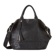Buy Gerard Darel Only You Pebble Leather Grab Bag, Black Online at johnlewis.com